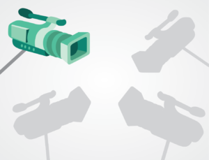 Illustration of one camera being used instead of four